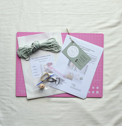 Macrame DIY keyring kit