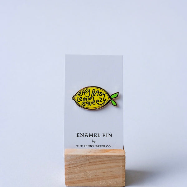 Lemon Enamel Pins