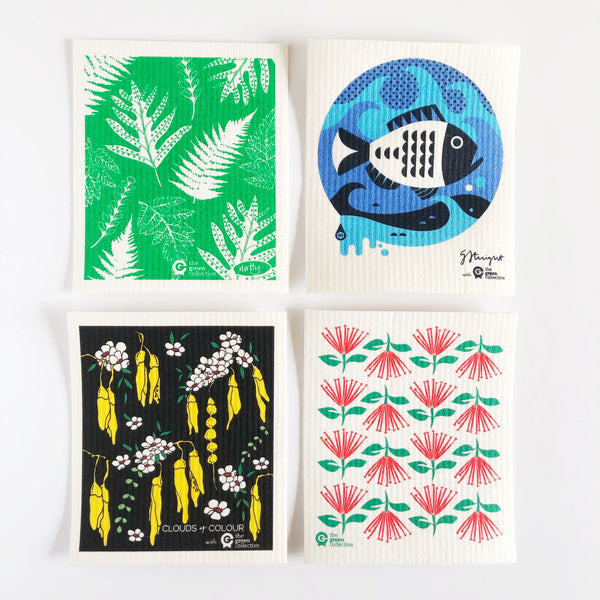 SPRUCE - Kiwiana set of 4 eco cloths