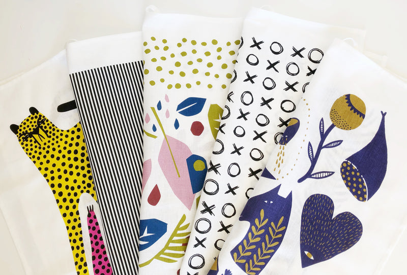 Linen mix Tea Towels by The Green Collective