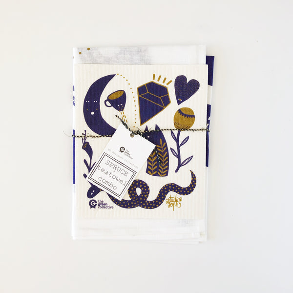 Linen mix Tea Towel SETS by The Green Collective