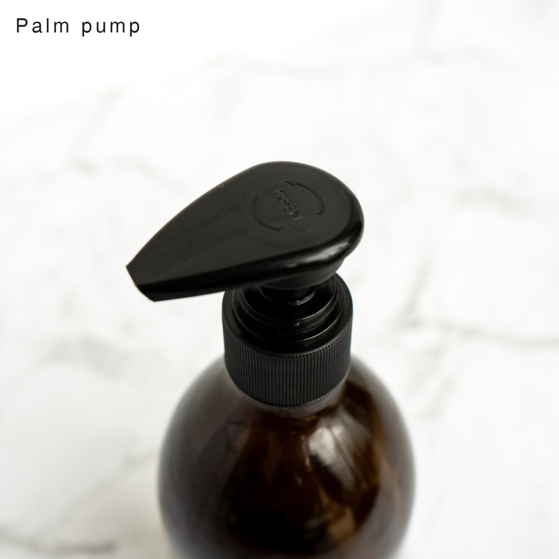 Amber Glass Bottle Palm Pump 500ml Dishwash