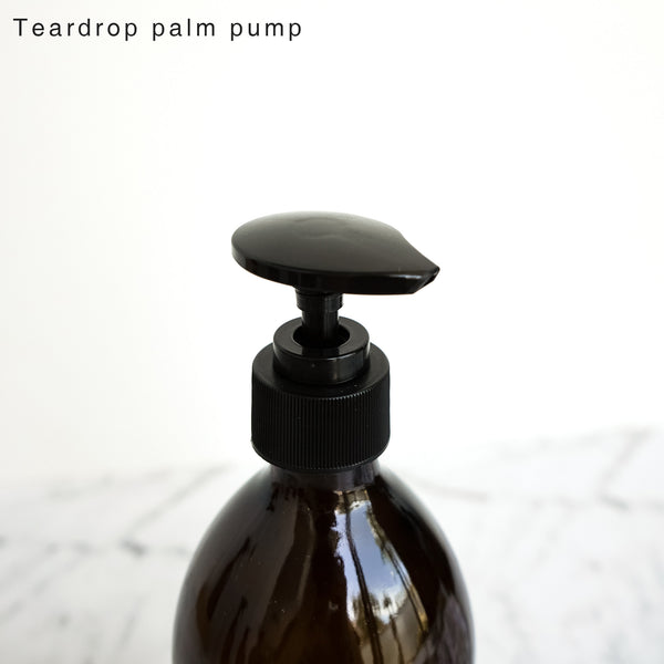 Amber Glass Bottle Pump 500ml Shampoo