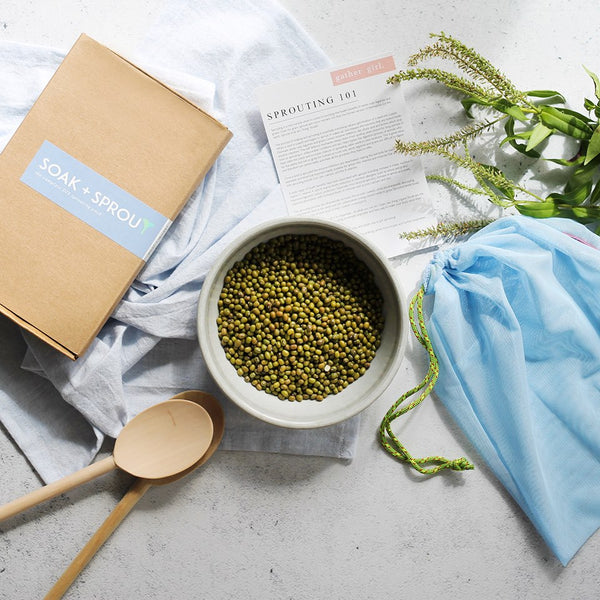 SOAK + SPROUT DIY - HOME KIT. LEARN TO SOAK AND SPROUT
