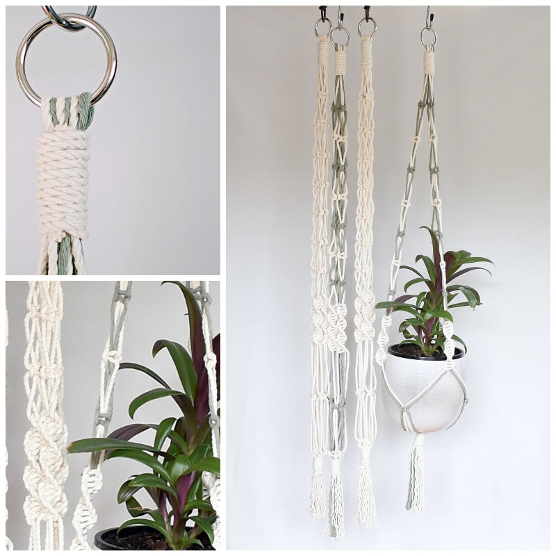 'BLOOM' macrame plant hanger