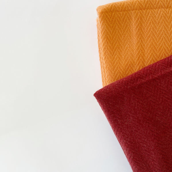 Assa Cashmere Shawl, Block Colour Herringbone