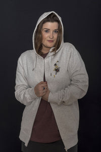 SWEAT/VESTE Zippée  - 100% coton bio - UNISEXE - BOURDON