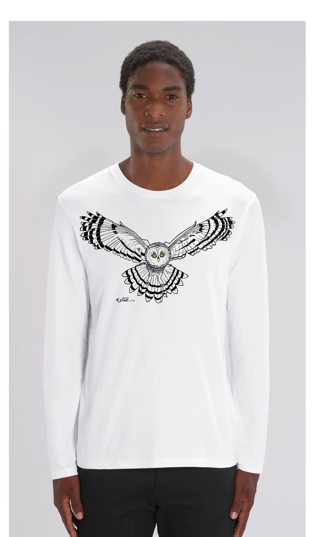 TEE-SHIRT manches longues  unisexe coupe droite- CHOUETTE - Kyewo