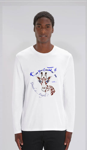TEE-SHIRT manches longues HOMME - GIRAFE - Kyewo