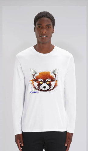 TEE-SHIRT manches longues HOMME - PANDA ROUX