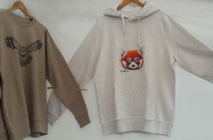 Pull/SWEAT-SHIRT Poches/capuche Homme - PANDA ROUX