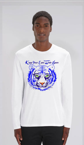 TEE-SHIRT manches longues HOMME - TIGRE BLEU AE - Kyewo