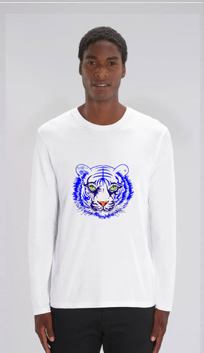 TEE-SHIRT manches longues HOMME - TIGRE BLEU SE - Kyewo