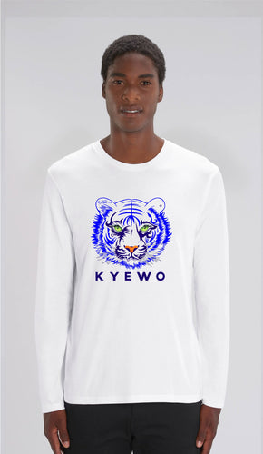 TEE-SHIRT manches longues HOMME- TIGRE KYEWO BLEU - Kyewo