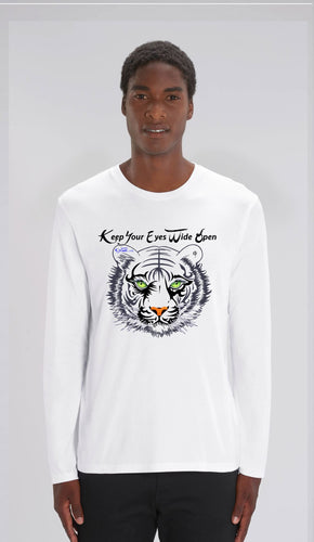 TEE-SHIRT manches longues HOMME- TIGRE NOIR AE - Kyewo