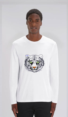 TEE-SHIRT manches longues HOMME- TIGRE NOIR SE - Kyewo