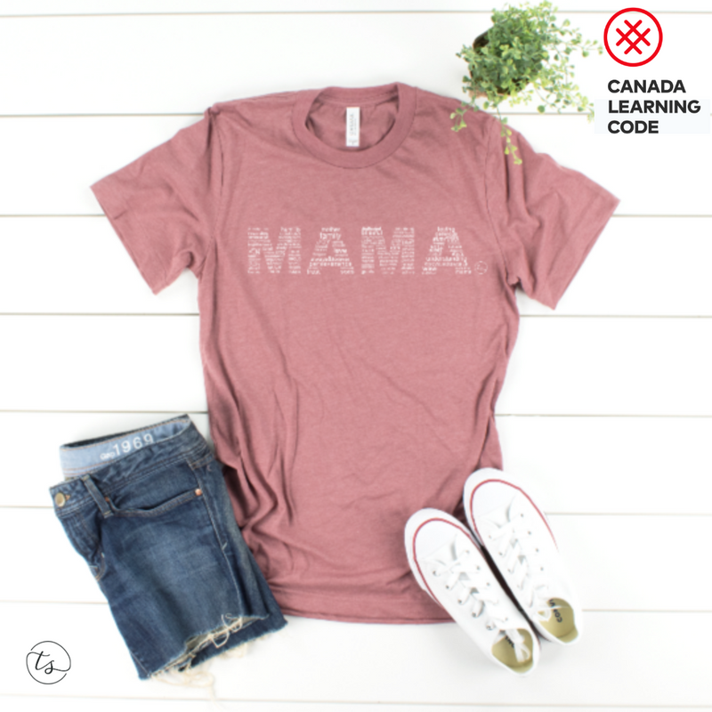 """MAMA"" in Mauve 