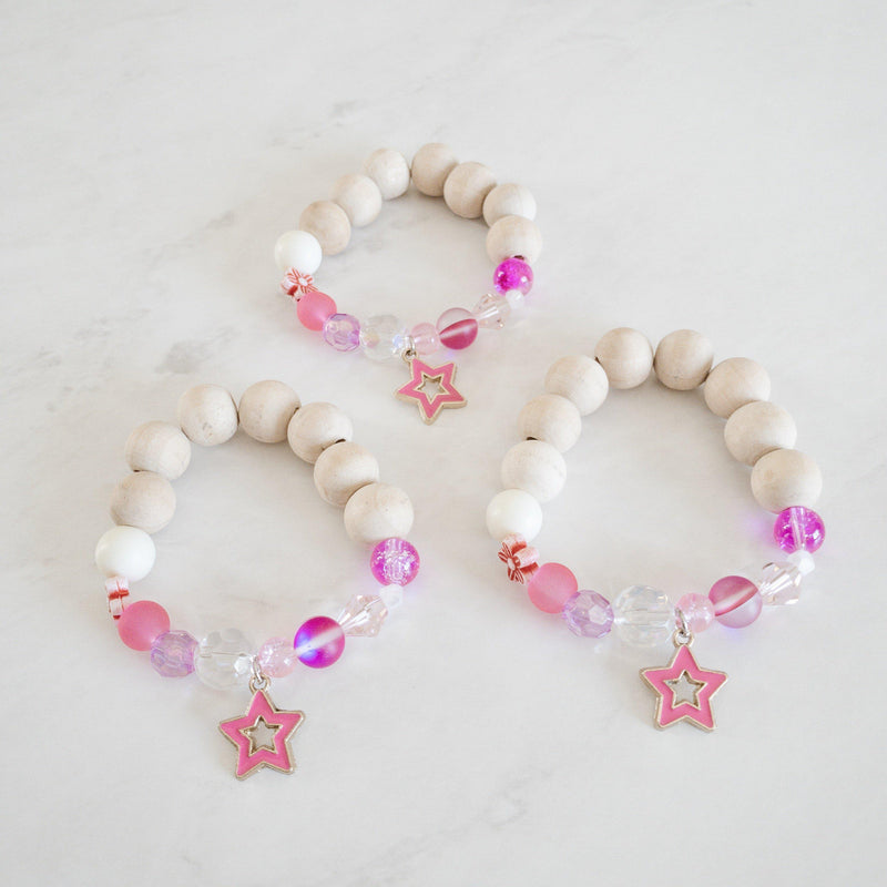 Bracelets for Girls - Pink Star