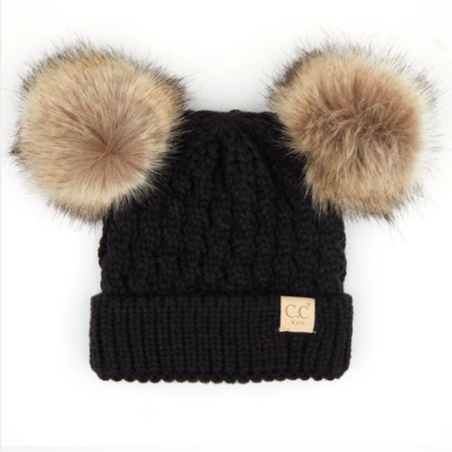 CC Beanies for Kids | Double Pom Pom