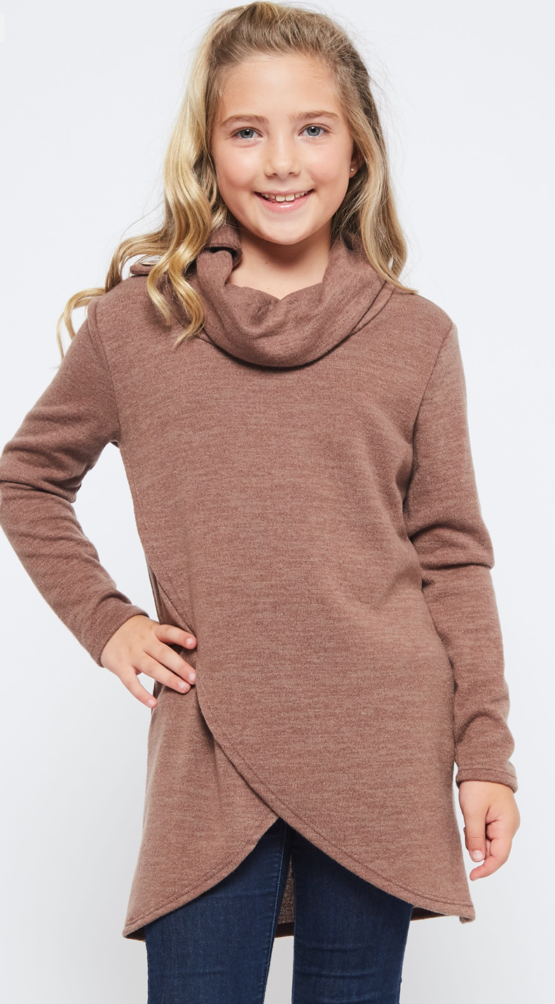 Solid Wrap Top | Girls