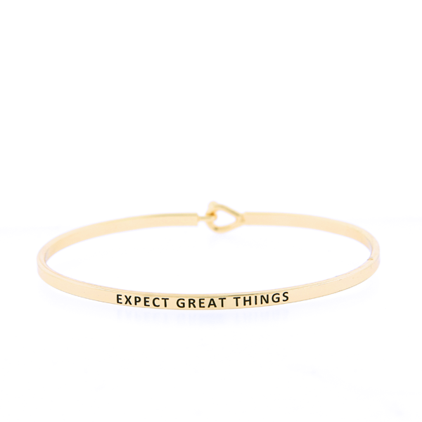 Expect Great Things Bangle