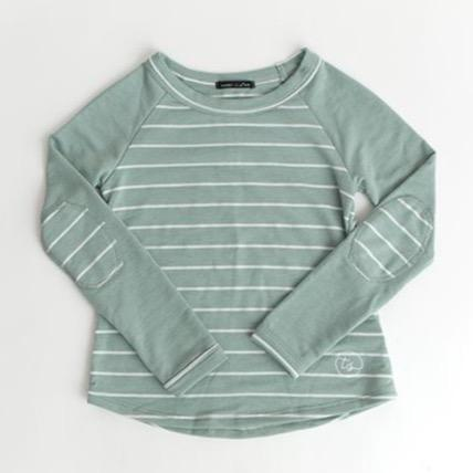 Girls Striped Baseball Top