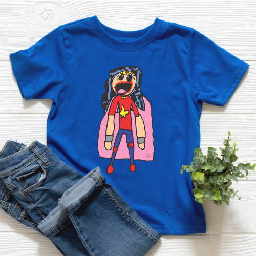 Kids Artwork 1: Wonder Girl
