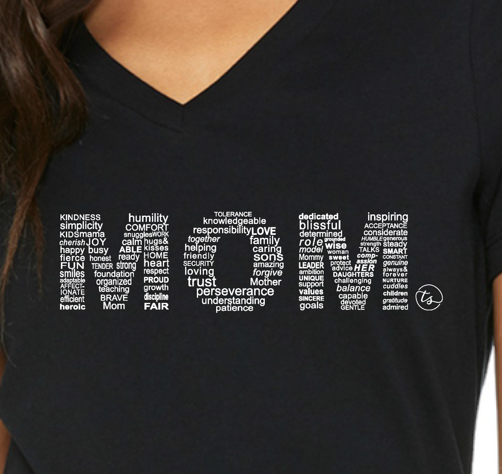 """MOM"" Tee in Black"