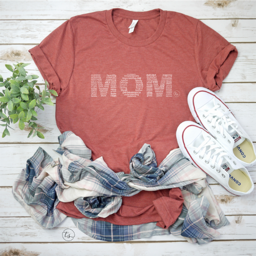 """MOM"" Tee in Clay"