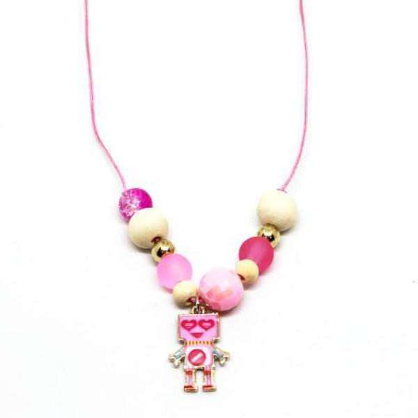 Necklaces for Girls - Pink Robot