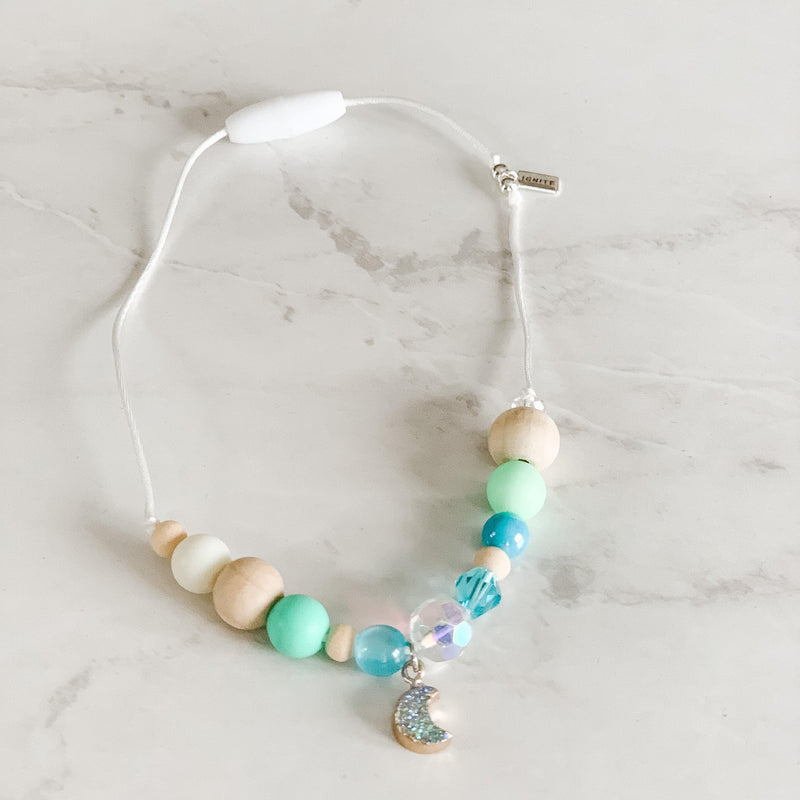 Necklaces for Girls - Sparkly Moon