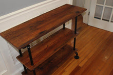 Load image into Gallery viewer, Sofa Table from Reclaimed Wood from 1832 House in Canton, MA