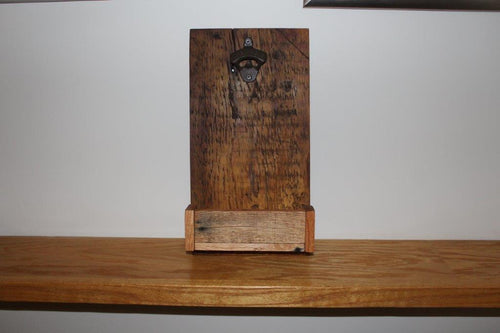 Rustic Wall Mounted Bottle Opener