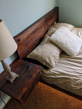 Load image into Gallery viewer, Custom Rustic Floating Queen Size Bed with Nightstand