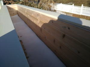 Custom Planter Box with 10' bench