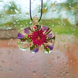 Resin Real Flower Preserved Handmade Elephant Pendant - Olafo's