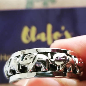 Thai Elephant Ring 925 Sterling Silver - Olafo's