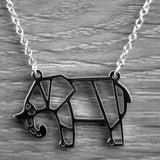 Origami Elephant Necklace - Olafo's