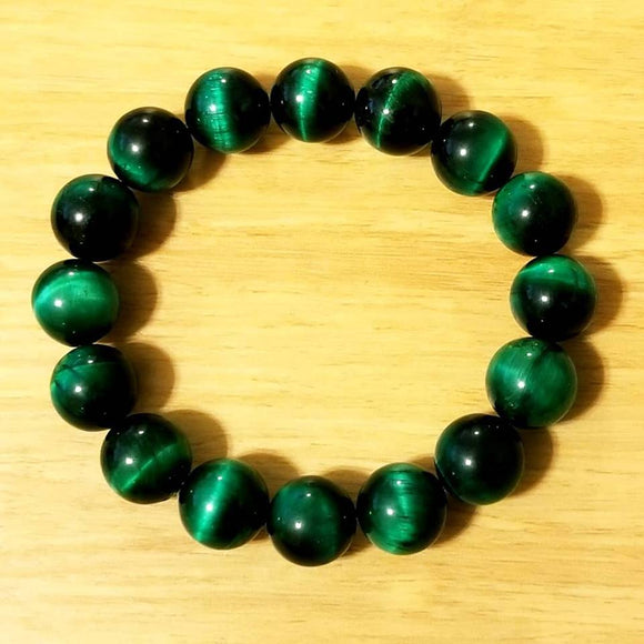 Green Tiger Eye Beaded  Bracelet - Olafo's