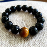 Natural Black Onyx and Tiger Eye Stone Beads - Olafo's