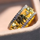Elephant Ring Zircon Stone Gold Filled - Olafo's