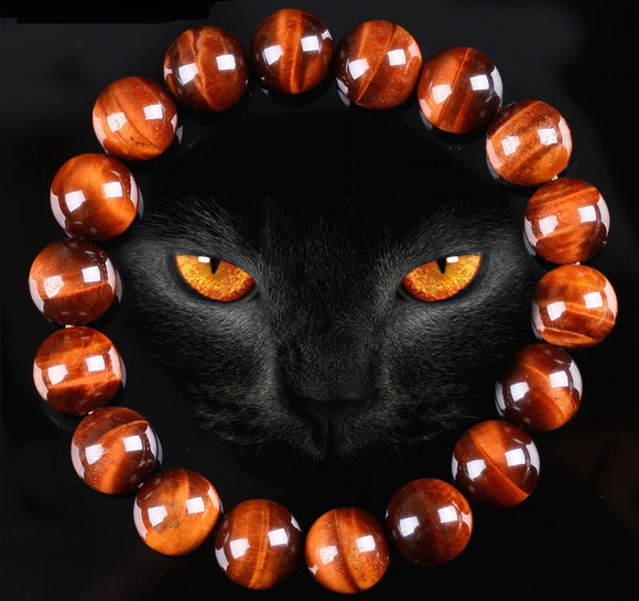 Red Tiger Eye Natural Stone Bracelet - Olafo's