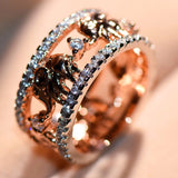 Elephant Ring Gold & Rose Gold Filled Cubic Zircon - Olafo's