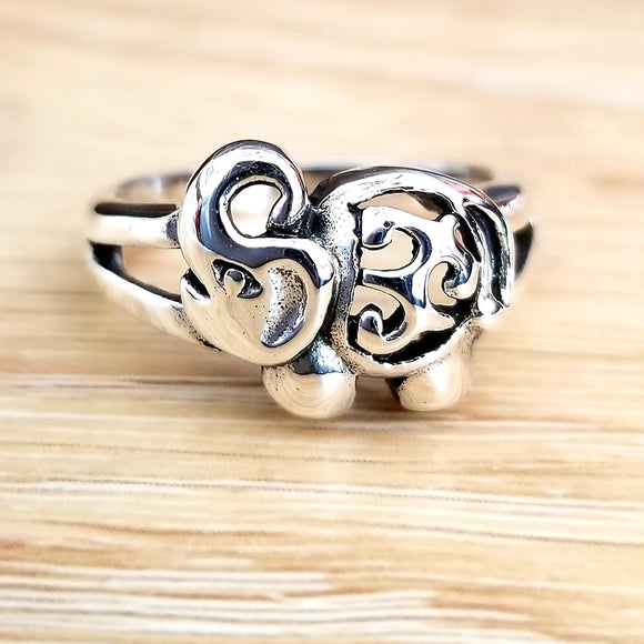 Thailand Elephant 925 Sterling Silver Ring - Olafo's