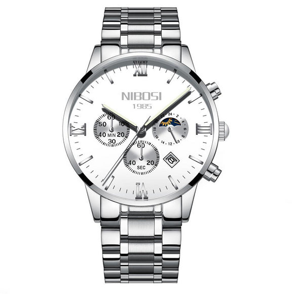 NIBOSI Luxury Men's Watch Stainless Steel - Olafo's