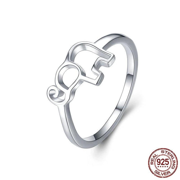 Happy Elephant Ring 925 Sterling Silver