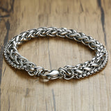 Double Chain Bracelet for Men Stainless Steel - Olafo's