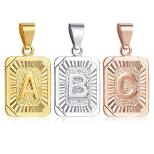 Initial letter Pendant Silver, Gold or Rose Gold - Olafo's