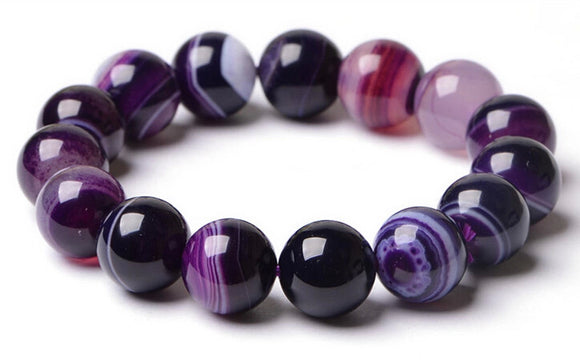 Purple Onyx Natural Stone Bracelet - Olafo's
