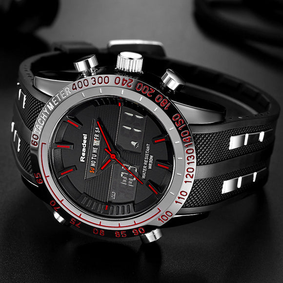 Sports Watches Waterproof LED Digital Quartz Men Military Wrist Watch Clock - Olafo's